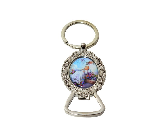 Metal Bottle Opener Key chain Baptism Christening Party Favor