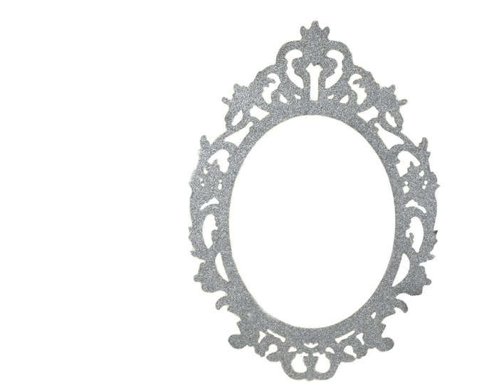 Wood Glitter Oval Laser Cut-Photo Frames. 36 Inches