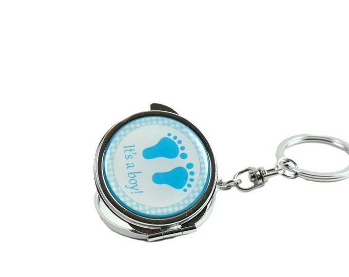 Mirror Keychain  Baby Foot Party Favors.
