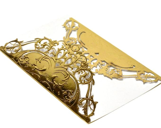Laser Cut Invitation Card.