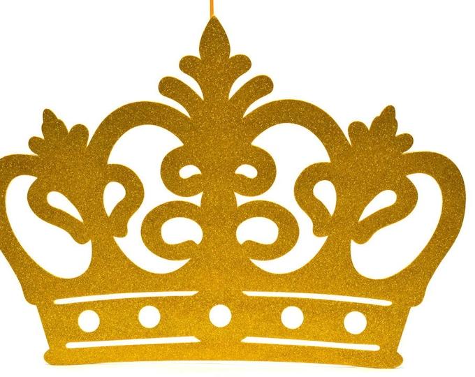 Princess Glitter Foam Crown Wall Hanging-Baby Shower Banner