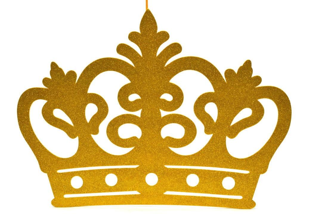 Jumbo Size Princess Crown Glitter Foam Decoration