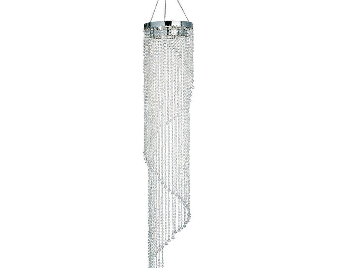 Chandelier Party Decoration-Crystal Spiral Chandelier Decor.