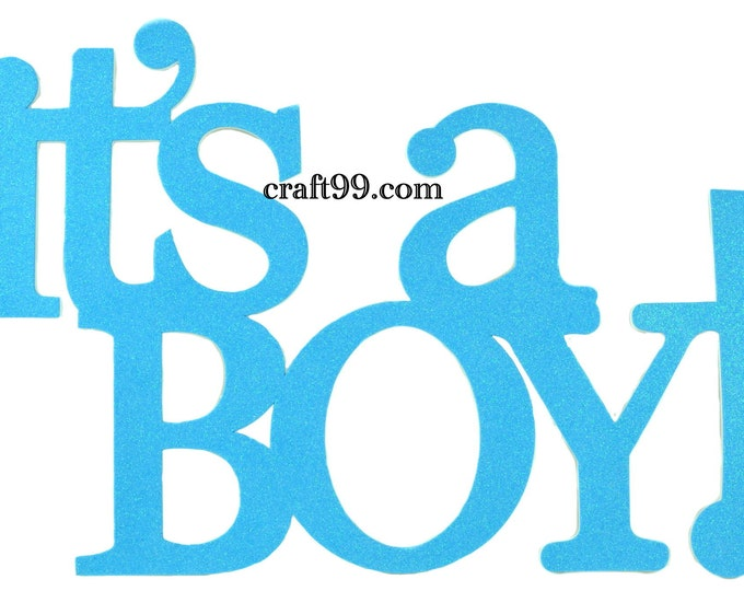 It's A Boy Glitter Foam Party Decorations Banner. 33 Inches