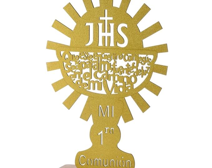 Caliz Primera Comunion Baptism Gift.  Spanish Version. (L)