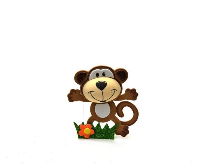 Monkey 3D-Glitter Foam-Party Favors. M - S