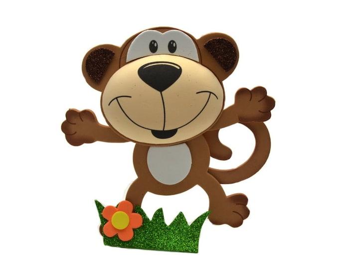 Jungle Monkey 3D Glitter Foam Party Decorations. L