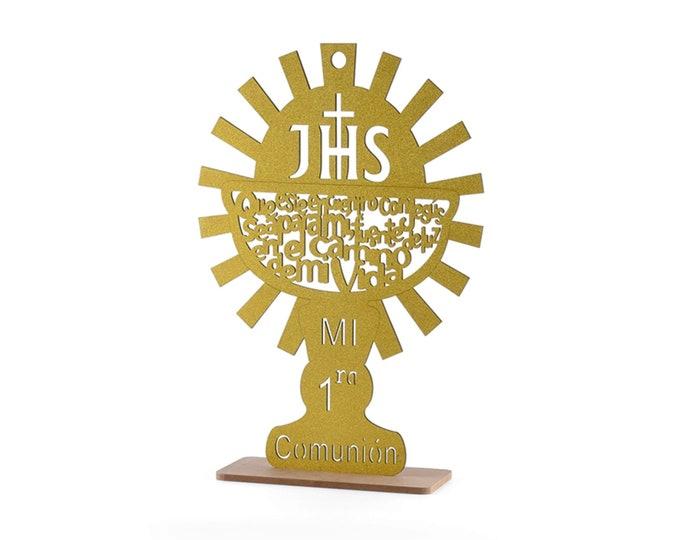 Caliz Communion-Baptism Gift.  Spanish Version.