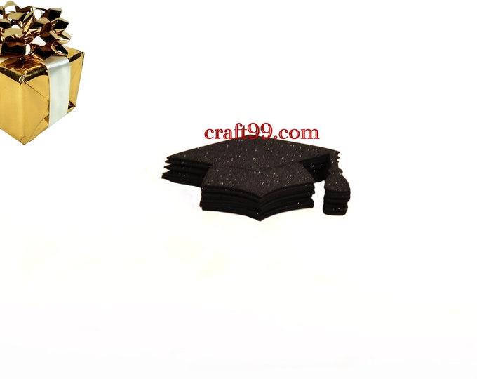 Glitter Foam Graduation Cap Party Favors. S