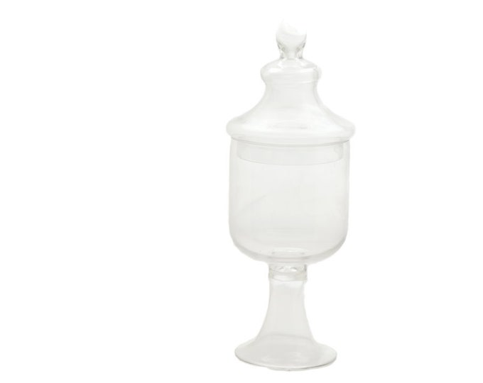 """Glass Jar Clear Candy Jars with Lid - 18"""""""