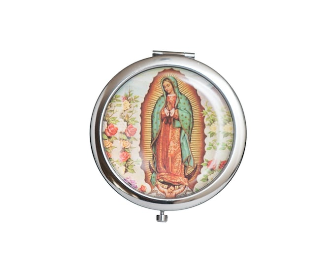 Compact Mirror-Guadalupe Figurine Christening Favors.