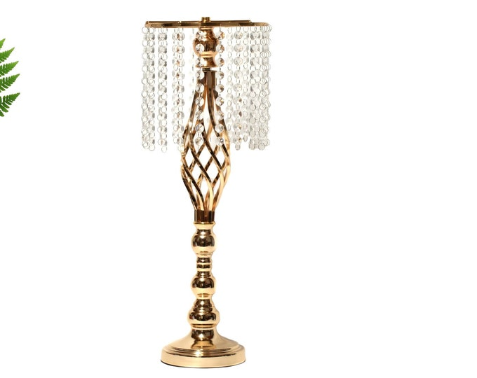 Candle Holder Flower Ball Stand Metallic Vases Party Decorations. 22 Inches