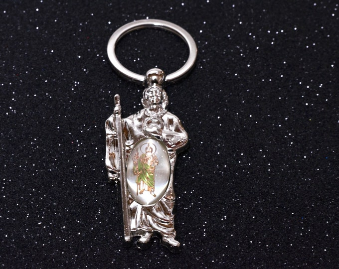 Saint Jude Key Chain Party Favors-Baptism Gift.