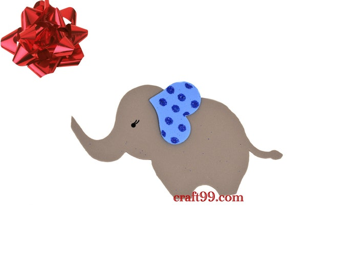 Adorable Elephant Foam Cut Out Baby Shower Party Decorations.