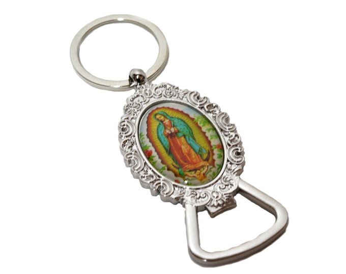 Our Lady Guadalupe Bottle Opener-Key Chain Christening Party Favors