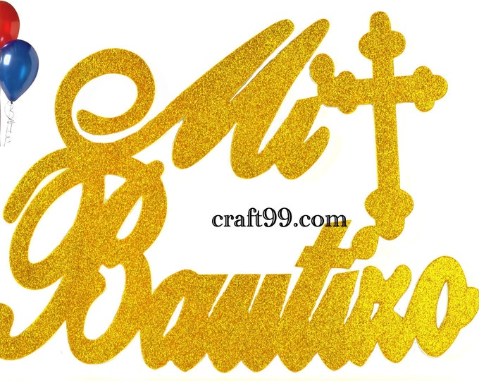 Mi Bautizo Banner Christening Wall Decor Sign Party Decorations. XXL.