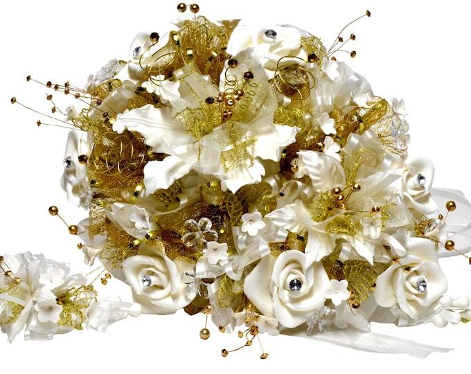Wedding Bouquet-Gum Paste Roses Wedding Bouquet