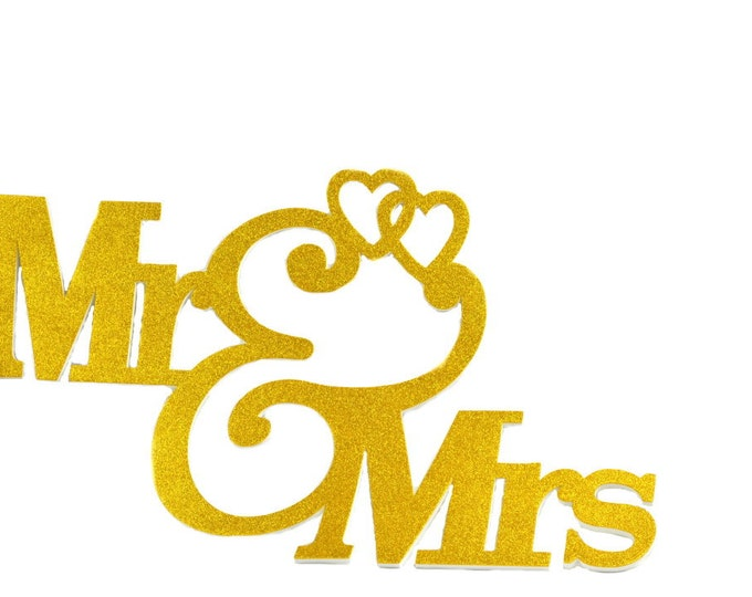 Mr and Mrs Banner-Wedding Decorations.35 Inches
