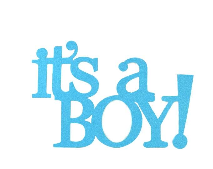It's A Boy Glitter Foam Baby Shower Banner