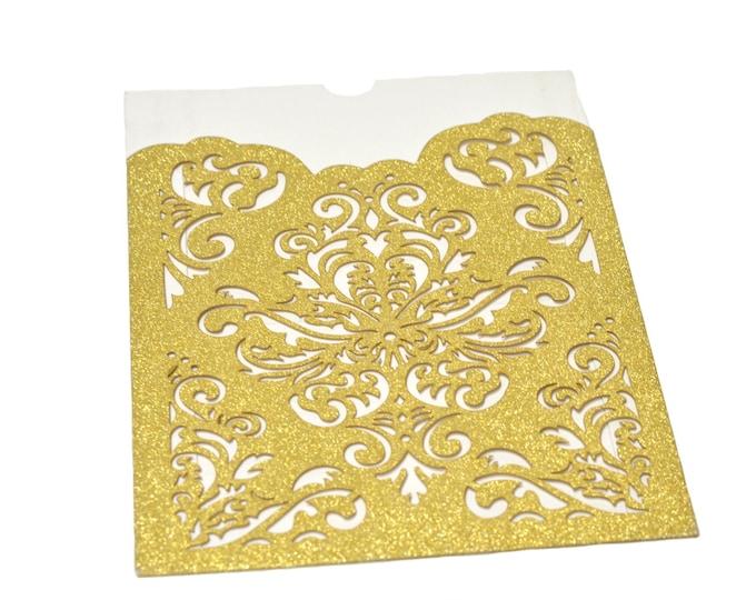 Laser Cut Invitation-Printable Inner Sheet-Wedding Invitation