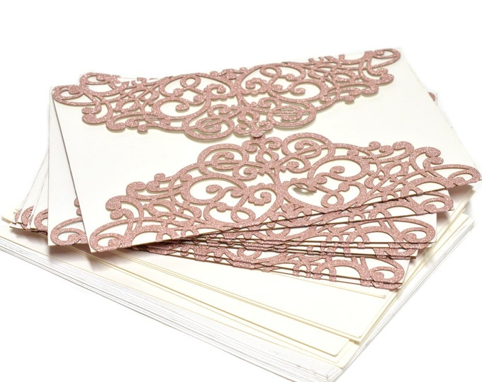 Laser cut Invitation-Baby Shower-Wedding Invitation. 24 Pieces.