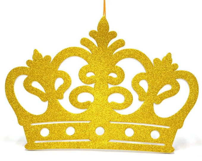 Princess Crown Glitter Foam Baby Shower Wall Decorations Banner - Party Decorations - XL.