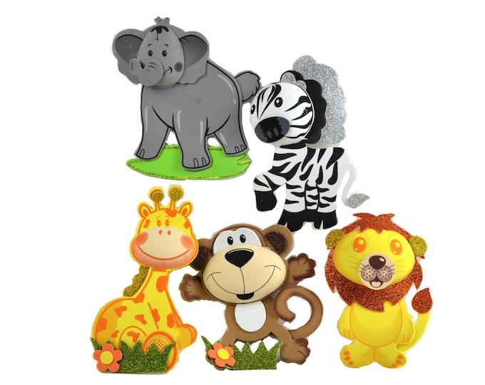 Safari Nursery Decor-Glitter Foam-Party Favors-Jungle Decorations. M - S