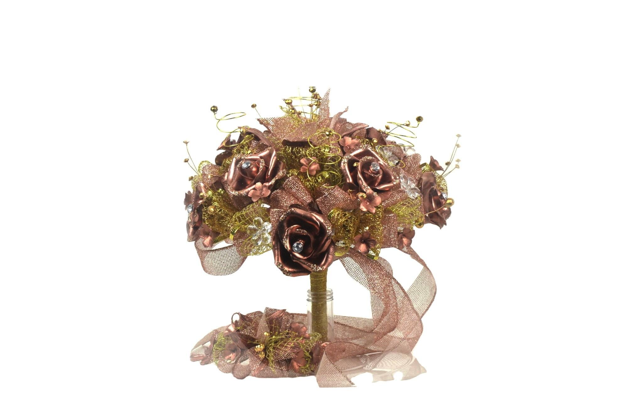 Artificial Flowers Bouquet-Rose Gold Bouquet-Birthday