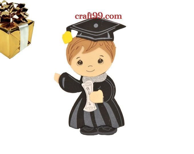 Graduation Cap and Gown with Diploma Party Decorations.