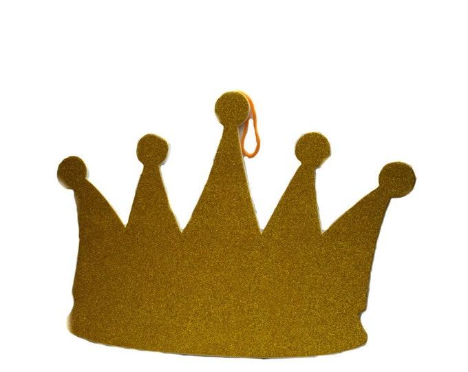 Baby Shower Banner-Prince Glitter Foam Crown-XL.