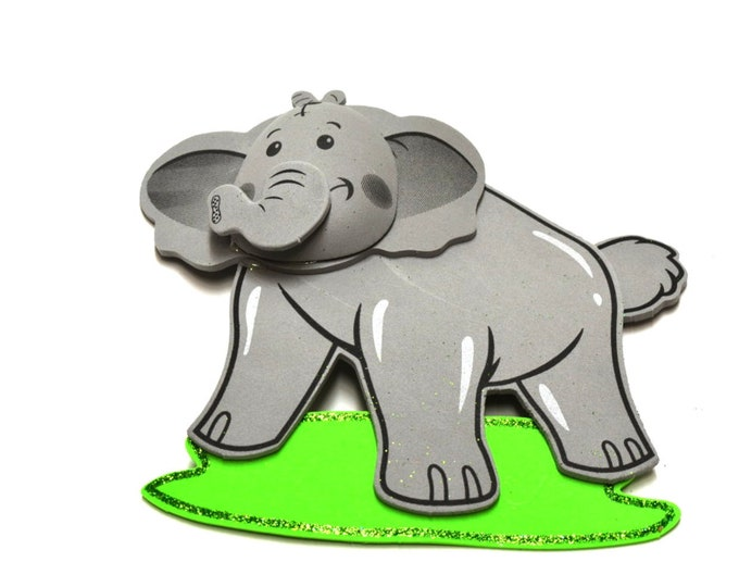 Glitter Foam-Elephant Party Decorations-3D. L