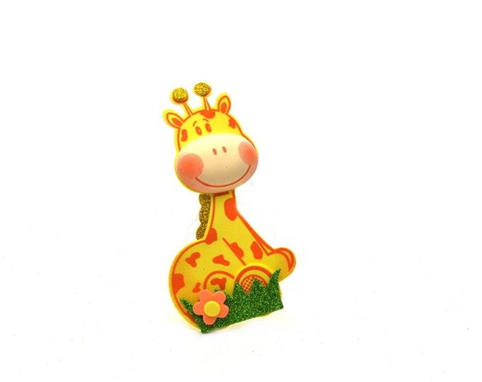 Giraffe 3D Glitter Foam Cut Out Party Favors. M - S