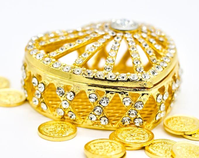 Wedding Unity Arras Coin Crystal Keepsake.