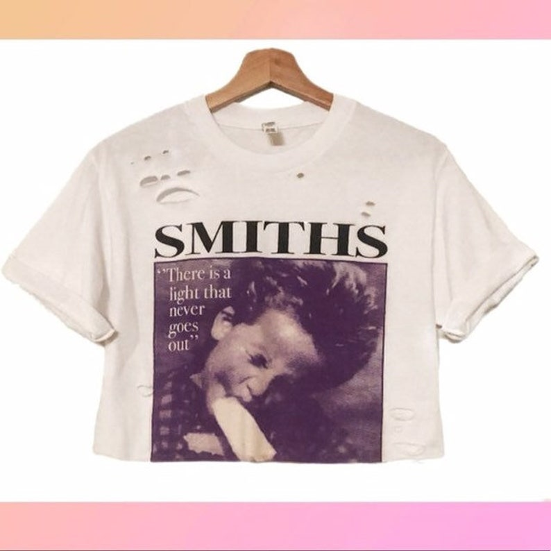 Distressed t shirt The Smiths Crop Top