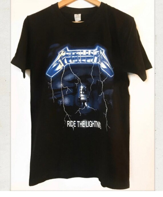 Official T Shirt METALLICA Black RIDE THE LIGHTNING Print Band Tee All Sizes
