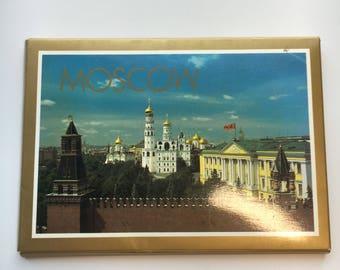 Vintage Souvenir Postcards of Moscow