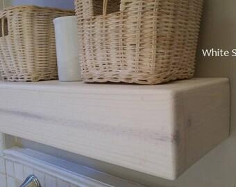 White Floating Shelf Etsy