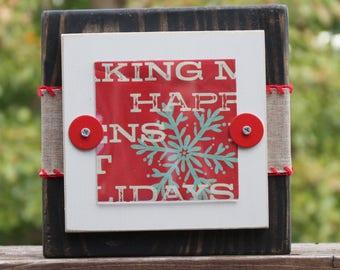 handmade Christmas frame