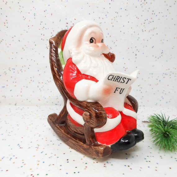 Cool Vintage Christmas Santa Bank Ceramic Csavings Fund Rocking Chair Mid Century Gift Atomicshack Com Onthecornerstone Fun Painted Chair Ideas Images Onthecornerstoneorg