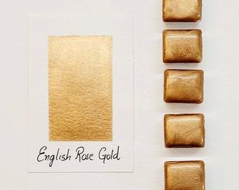 Rose Gold Watercolor Handmade paint ink for painting, calligraphy, manuscripts, illumination, Islamic Geometry, journaling, bijou