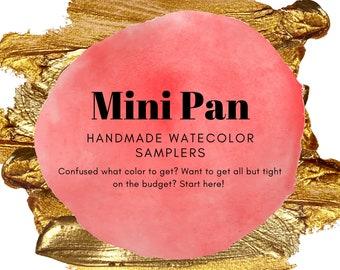 Mini pan Watercolor Samples