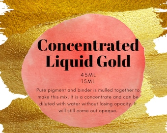 Concentrated Liquid Golds - Handmade Fine Artist Watercolor paint
