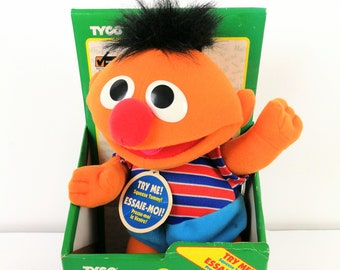 Ernie Tickle Me Pal Sesame Street Tyco 1996 Childrens Television Workshop NIB