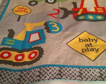 Construction Site Baby Blanket