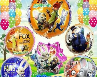 Zootopia Balloon Birthday Party Supplies Decoration