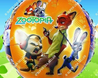 Zootopia Balloon Birthday Party Supplies Decoration