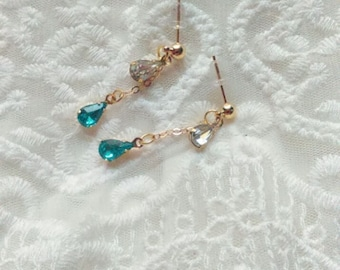 Sparkly Crystal Dangle Earrings