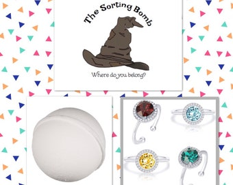House Sorting Bath Bomb, Harry Potter Inspired, Fandom, Sorting Hat, Wizard Bath Bomb, HP, Halloween Bath Bombs, Birthday Bath Bombs
