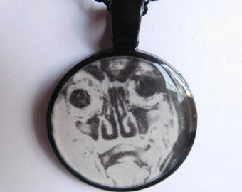 4 Strange Creature Collages resin necklace
