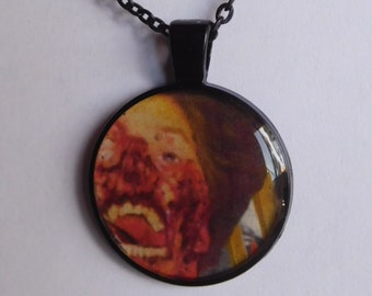 12 Strange Creature Collages resin pendant necklace